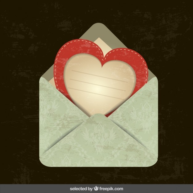Scrapbooking envelope Vetor grátis