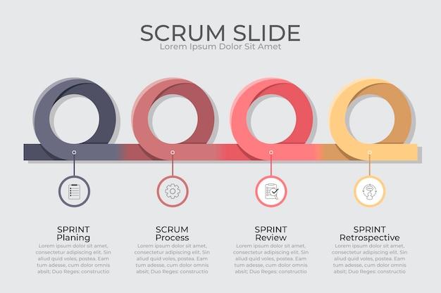 Scrum - conceito de infográfico Vetor Premium