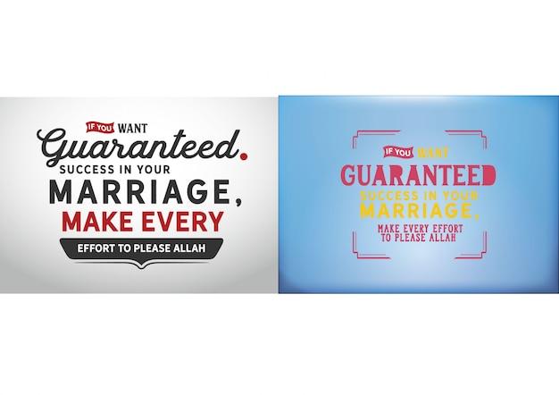 Se você quer sucesso garantido em seu casamento, Vetor Premium
