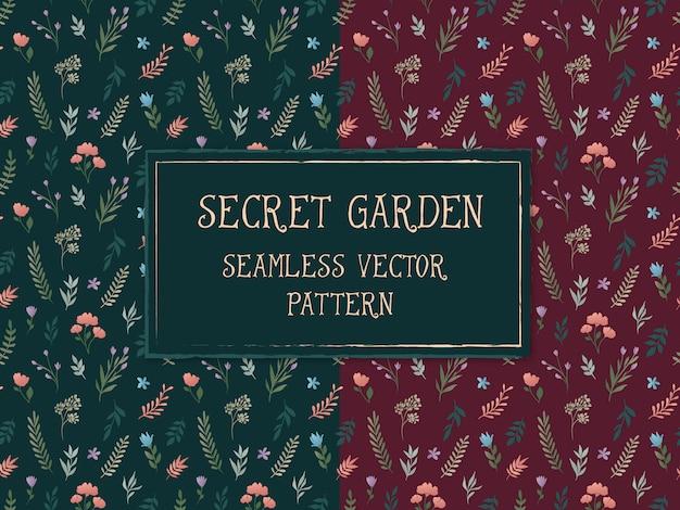 Seamless floral pattern Vetor Premium
