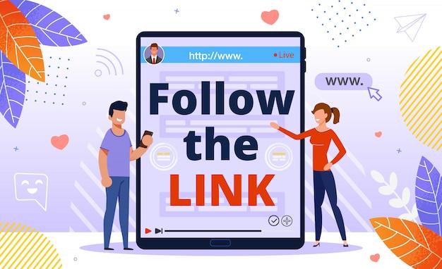 Seguir link, clique, anúncios do programa de referência Vetor Premium