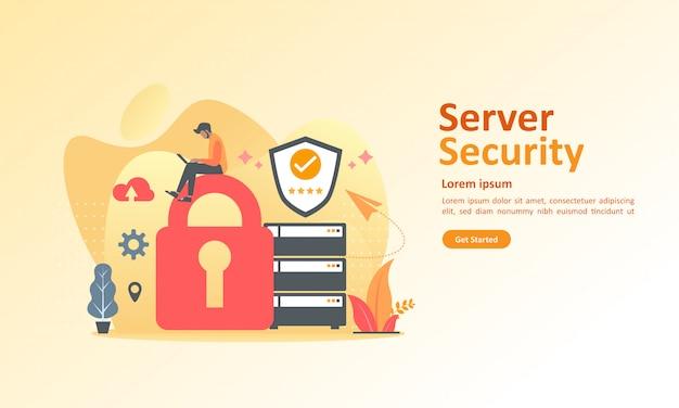 Segurança de dados de tecnologia em nuvem Vetor Premium