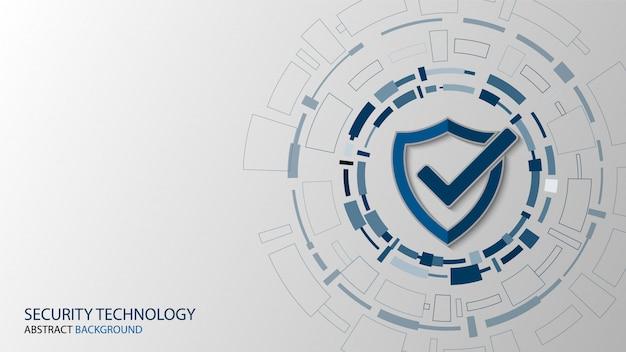 Segurança de tecnologia cibernética, projeto de plano de fundo de proteção de rede Vetor Premium