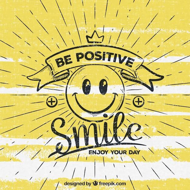 Seja fundo positivo Vetor grátis