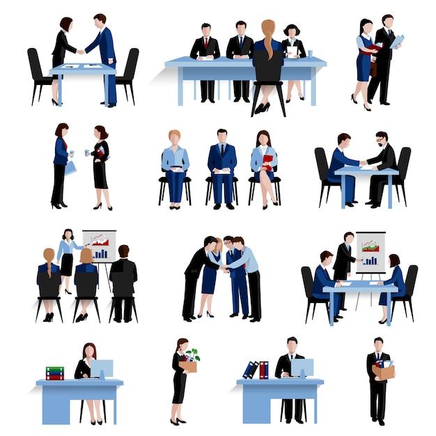 Seleção de pessoal de recursos humanos Vetor grátis