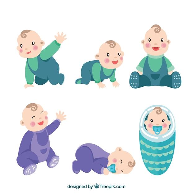 Seleção do bebê bonito Vetor grátis