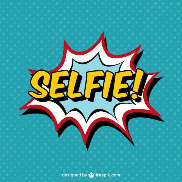 Selfie efeito de quadrinhos Vetor grátis
