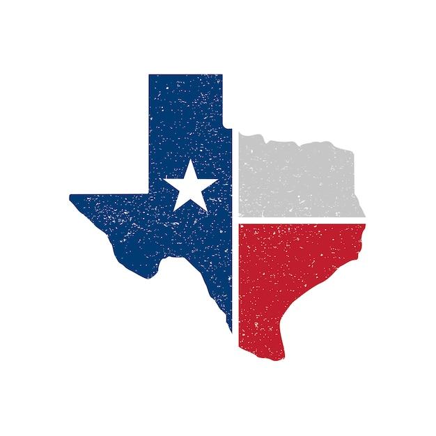 Selo de mapa do vetor de texas Vetor Premium