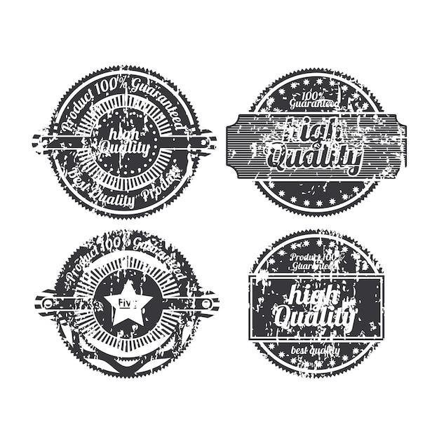 Selos de alta qualidade Vetor Premium