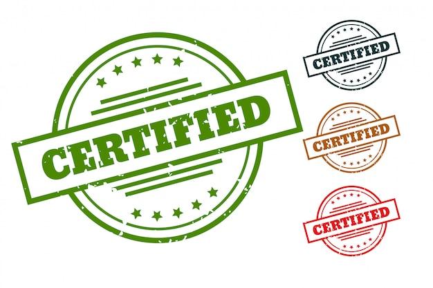 Selos de carimbo certificados para produtos aprovados Vetor grátis