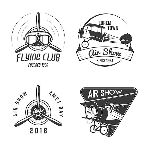 Selos de mosca antigos desenhados à mão vintage Vetor Premium