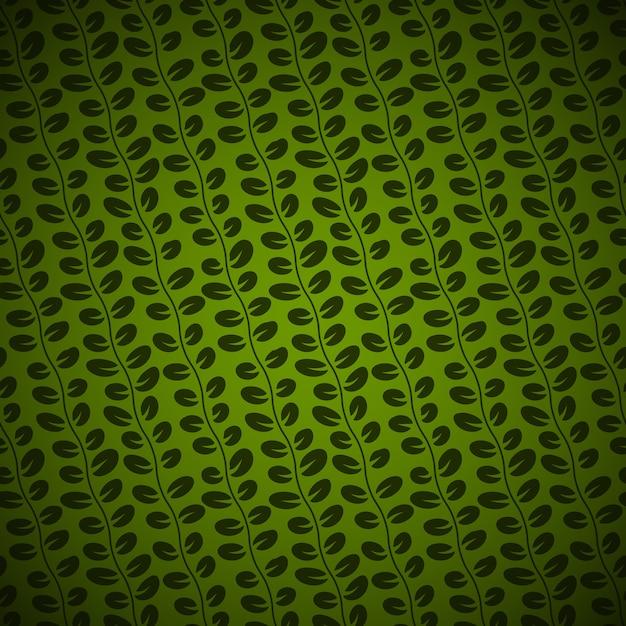 Sem costura diagonal padrão floral em fundo verde Vetor grátis
