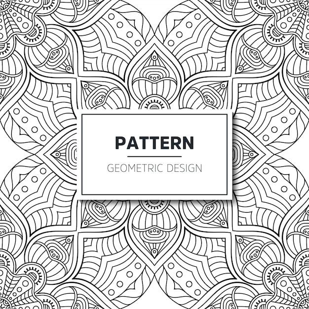 Sem costura padrão étnico e tribal. listras ornamentais desenhadas à mão. impressão em preto e branco para os seus têxteis. vector geomtrico. Vetor grátis
