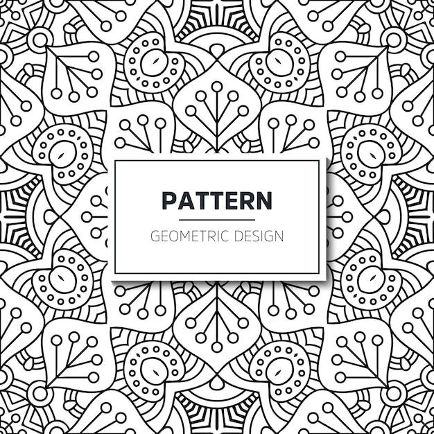 Sem costura padrão étnico e tribal. listras ornamentais desenhadas à mão. Vetor Premium