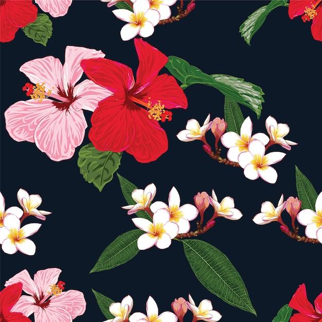 Sem costura padrão floral Vetor Premium