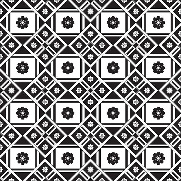 Sem costura padrão geométrico. fundo preto e branco Vetor Premium