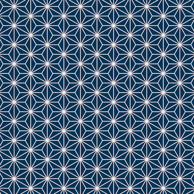 Sem costura padrão japonês com motivo de folha de cânhamo Vetor grátis