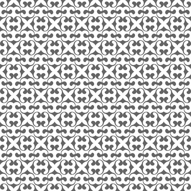 Sem costura padrão monocromático em estilo árabe Vetor Premium