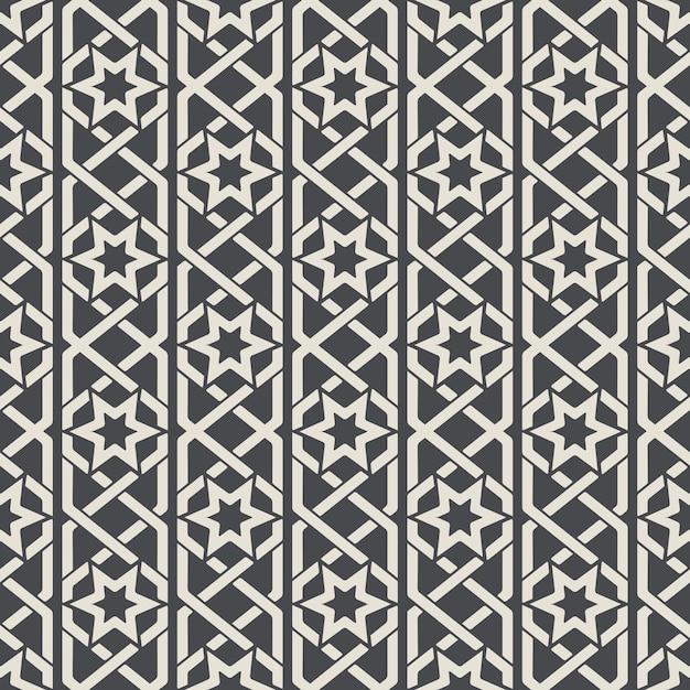 Sem costura padrão ornamental abstrato em estilo árabe. sem costura de fundo, padrão árabe, padrão têxtil de decoração. ilustração vetorial Vetor grátis