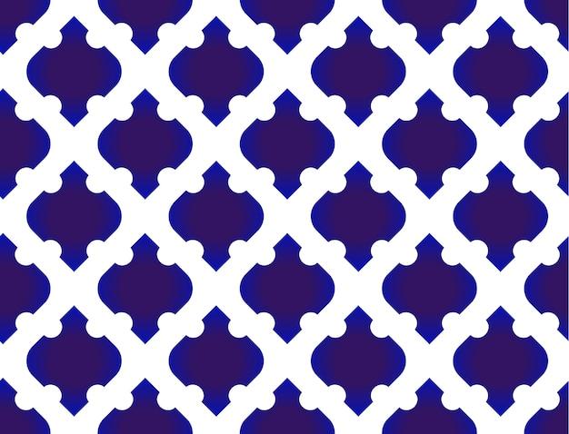 Sem costura padrão tailandês. padrão moderno abstrato azul e branco Vetor Premium