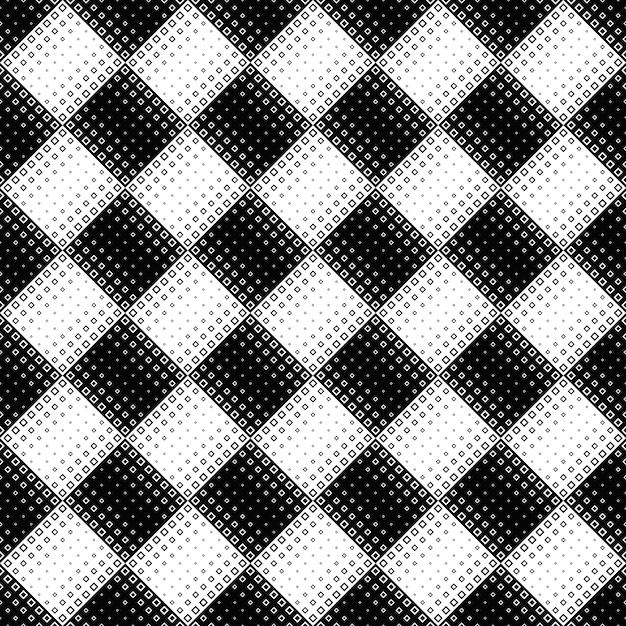 Sem costura preto e branco diagonal quadrado de fundo Vetor Premium