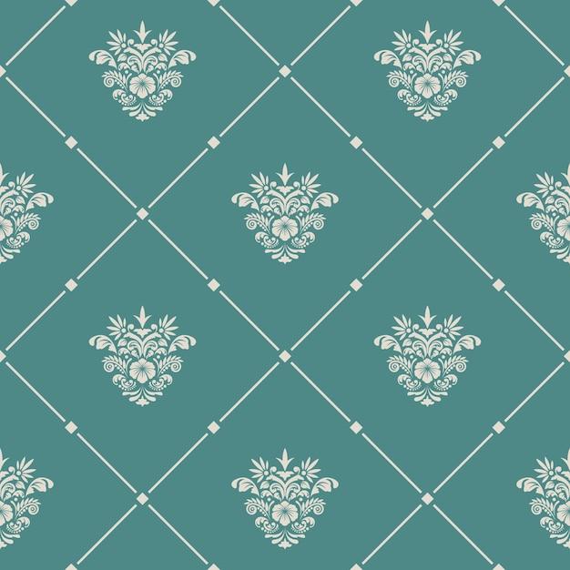 Sem costura vintage padrão. papel de parede de design, fundo retro para tecido, Vetor grátis
