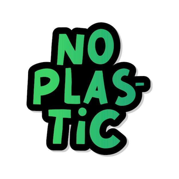 Sem plástico, ótimo para qualquer finalidade. ilustração de resíduos de plástico. sinal orgânico. Vetor Premium