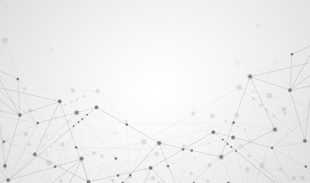 Senso abstrato de conexão com a internet da ciência Vetor Premium