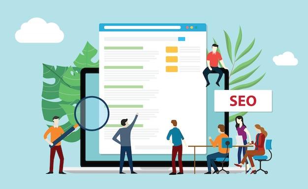 Seo search engine optimization Vetor Premium