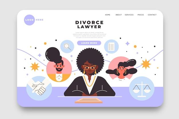 Serviço de advogado de divórcio - landing page Vetor grátis