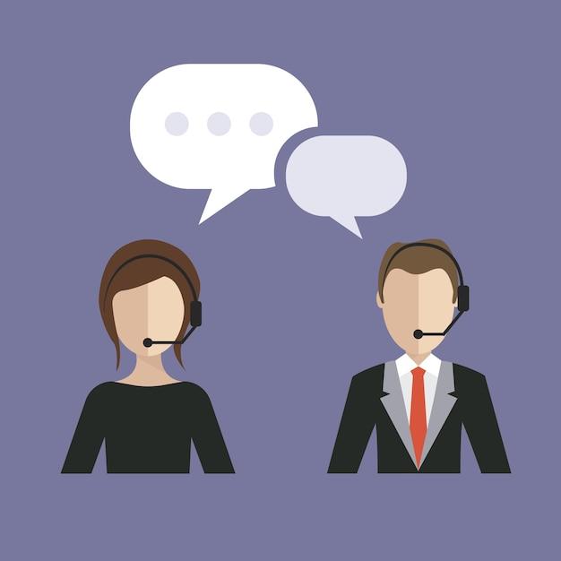 Serviço de atendimento ao cliente de negócios Vetor grátis