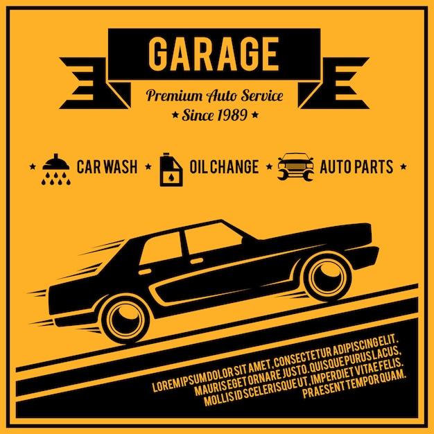 Serviço de cartaz auto Vetor grátis