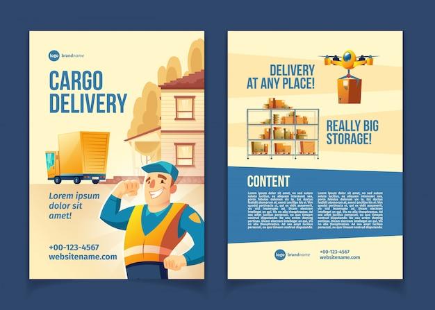 Serviço de entrega de carga Vetor grátis