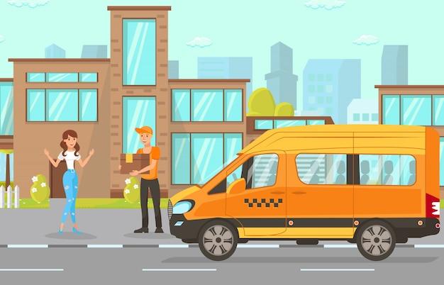 Serviço de entrega Vetor Premium
