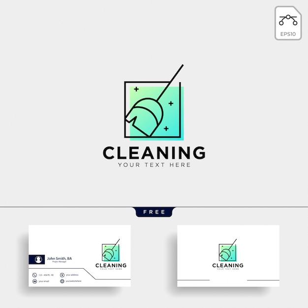Serviço de limpeza logotipo modelo vector ilustração ícone elemento Vetor Premium