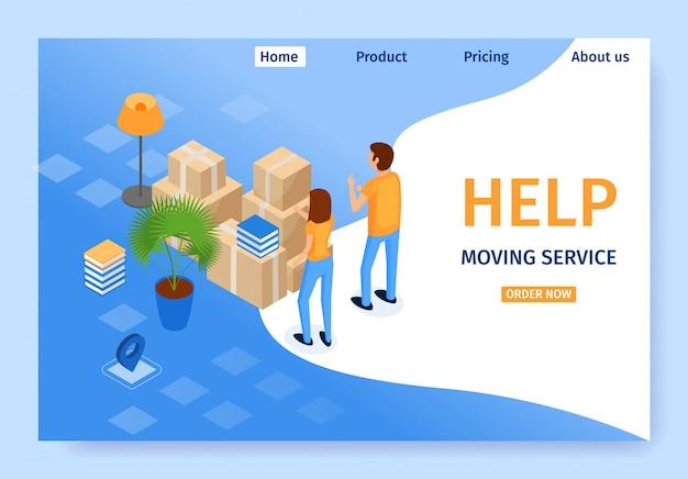 Serviço de movimentação de banner Vetor Premium