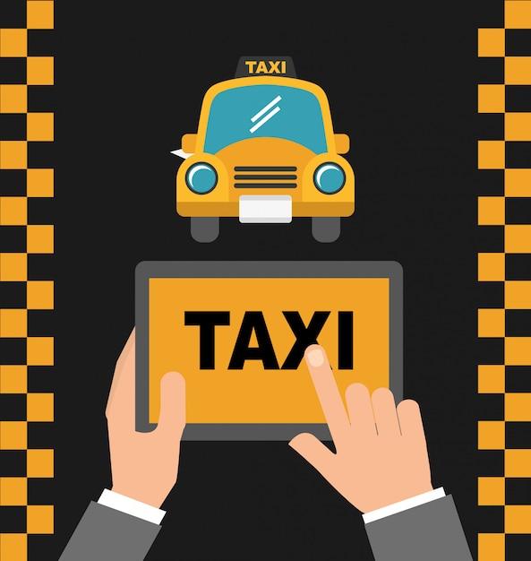 Serviço de táxi de aplicativo Vetor grátis