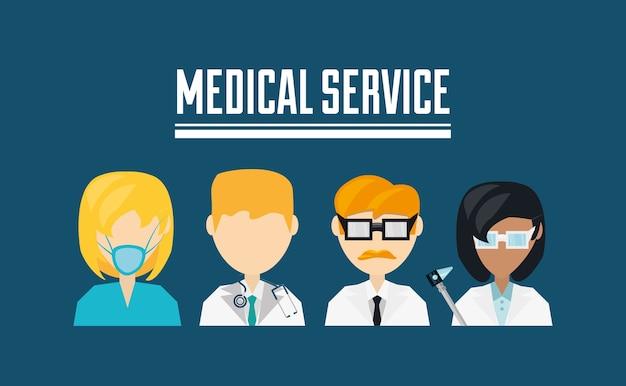 Serviço médico Vetor Premium