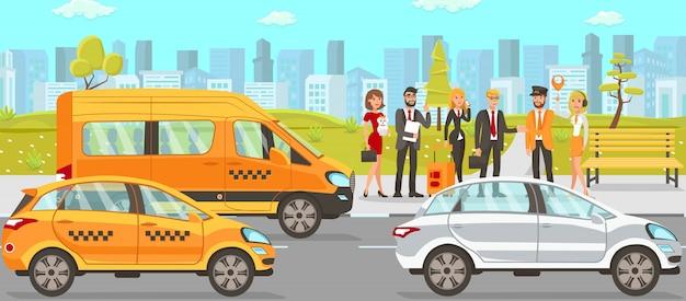 Serviços de táxi e motorista Vetor Premium