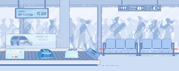 Serviços modernos de chegada ao terminal do aeroporto Vetor Premium
