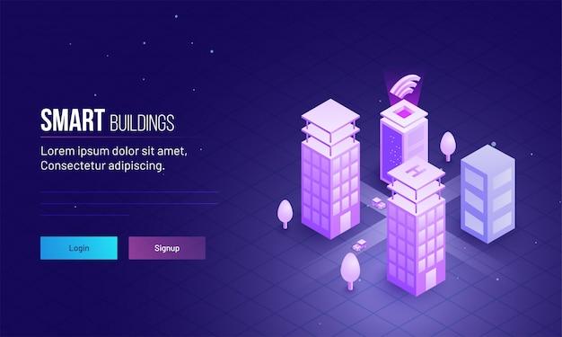 Servidor web com conexão de internet sem fio. Vetor Premium