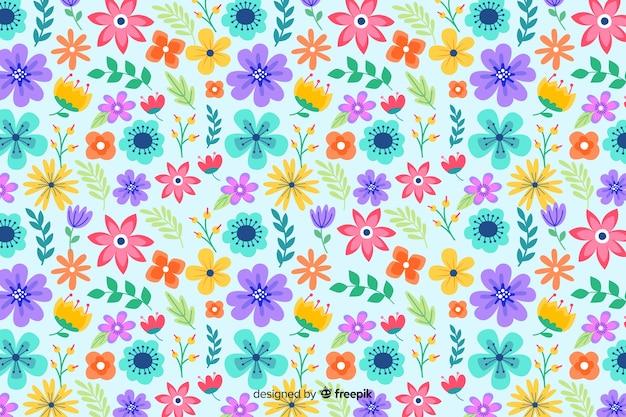 Servindo floral de fundo Vetor grátis