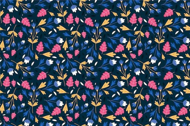 Servindo floral fundo sem costura padrão Vetor grátis