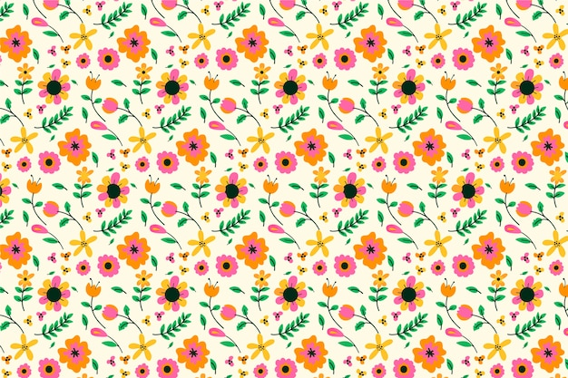 Servindo floral fundo Vetor grátis