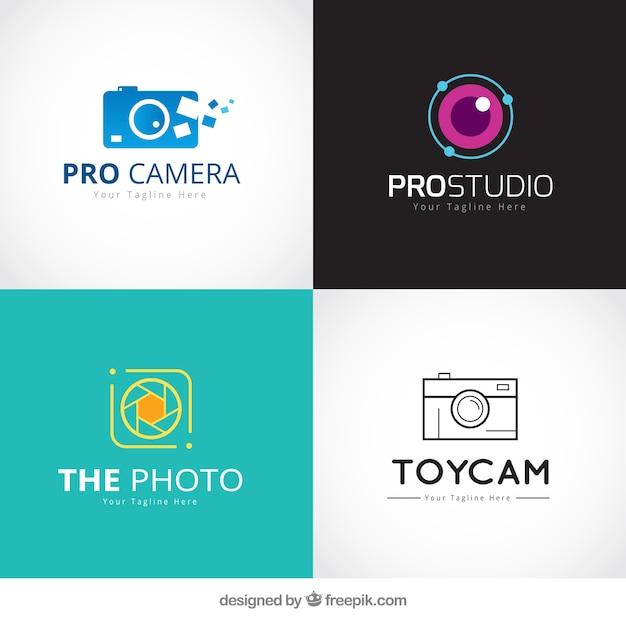 Set de logos de lojas Vetor grátis