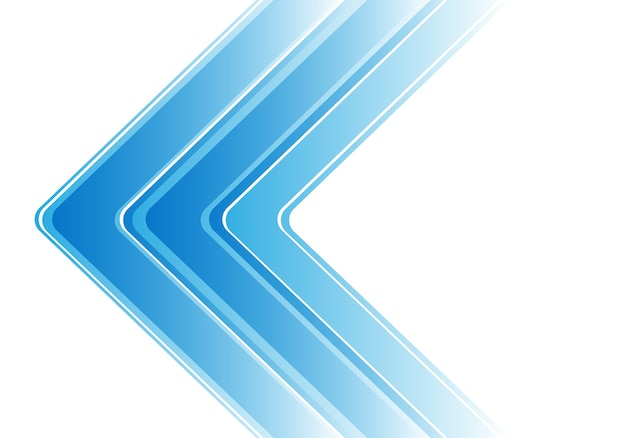 Seta azul abstrata no fundo moderno branco Vetor Premium
