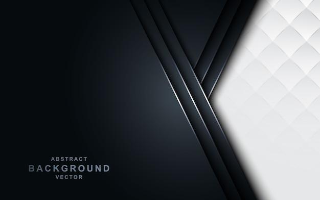 Seta branca sobre fundo escuro da marinha. Vetor Premium
