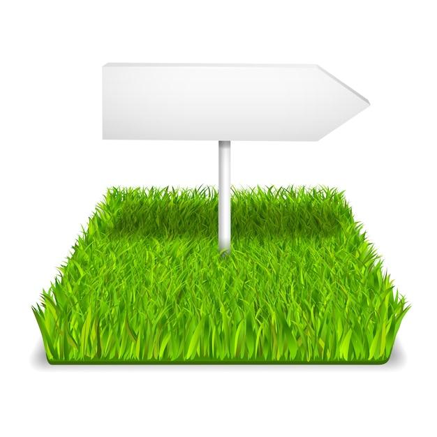 Seta de grama verde Vetor grátis