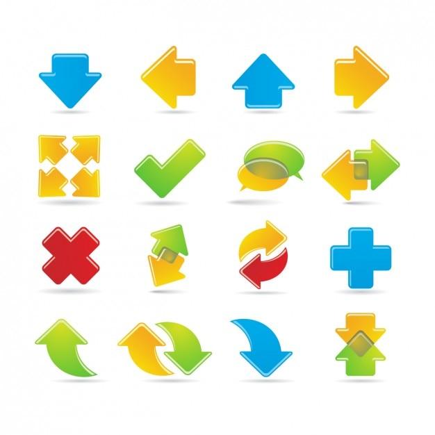 Seta icons collection Vetor grátis