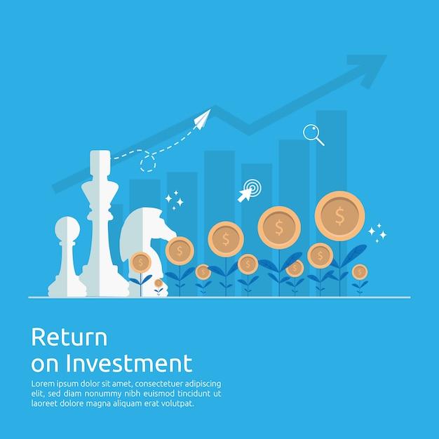 Setas de crescimento de negócios para o sucesso aumentar o lucro. Vetor Premium